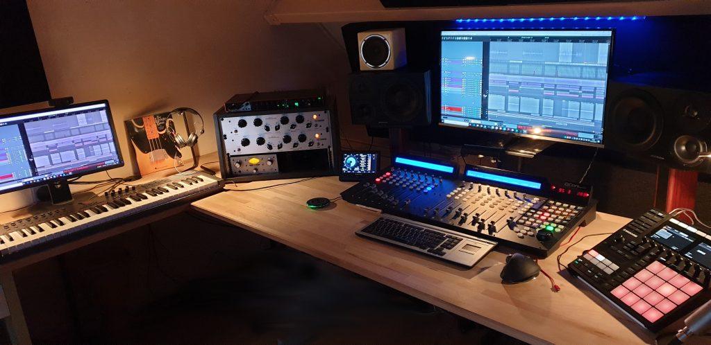 De huidige mixage studio
